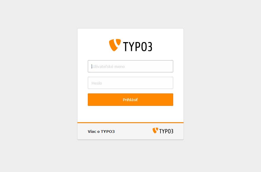 TYPO3 7.6 backend login