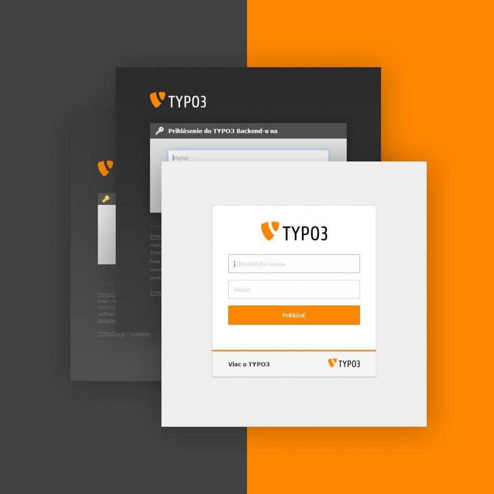 Zmena vzhľadu prihlásenia do TYPO3 backend - magnetica.sk
