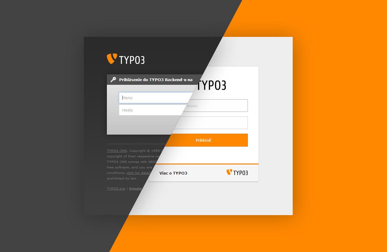 Ako sa menil vzhľad prihlásenia do TYPO3 backend-u?