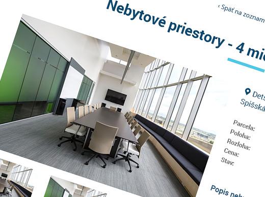 Web - Predaj a prenájom majetku mesta SNV