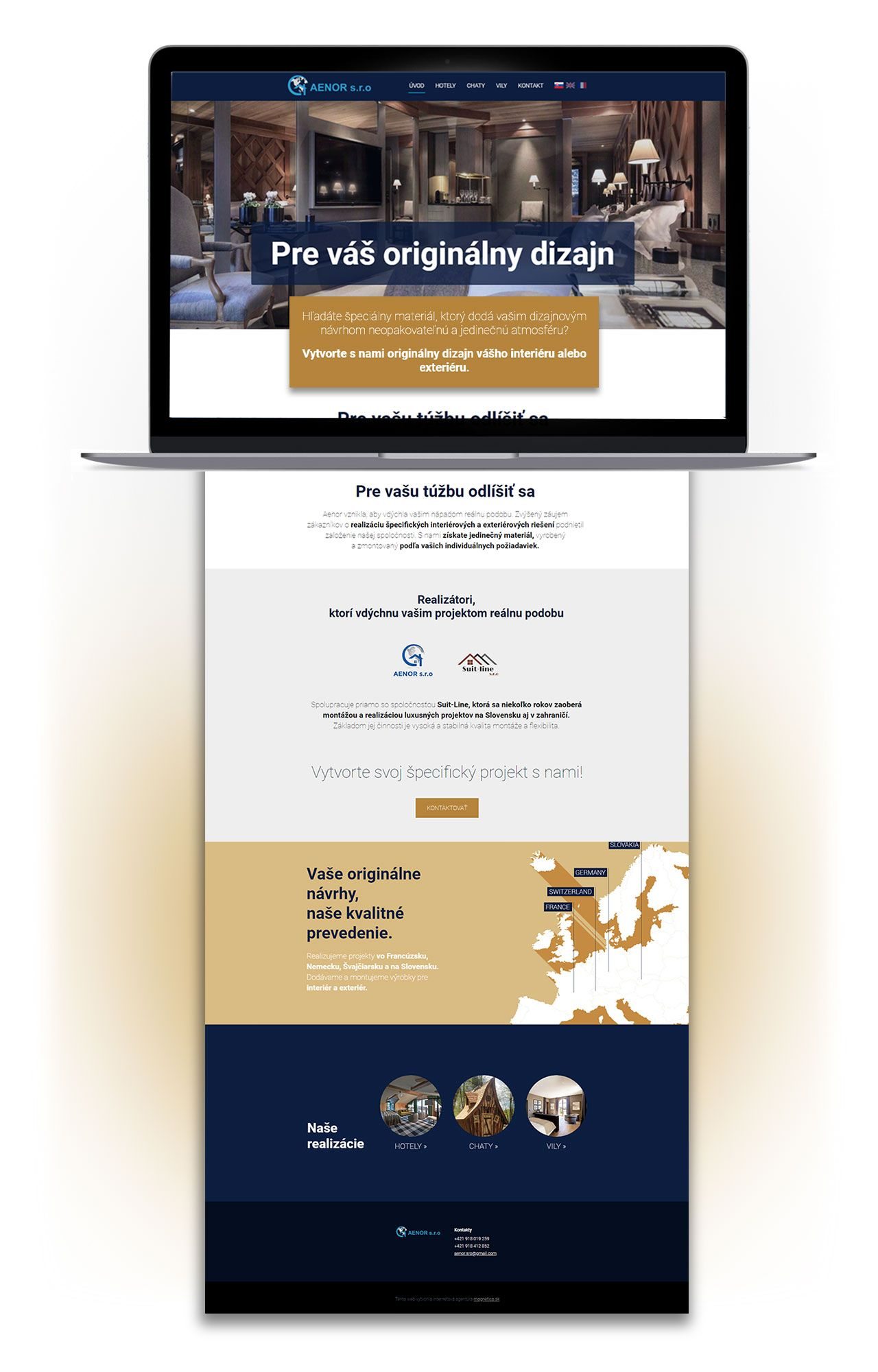 Referencia nová webstránka Aenor - magnetica.sk
