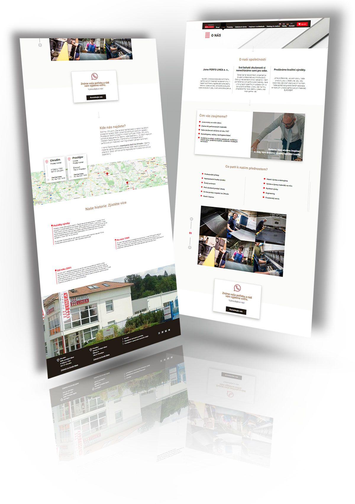 Referencia nová web stránka Perfolinea - magnetica.sk