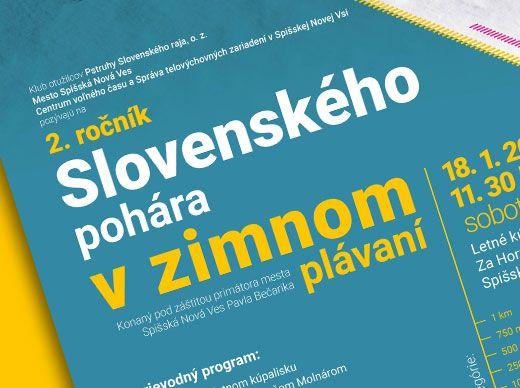 Plagát Slovenský pohár vzimnom plávaní