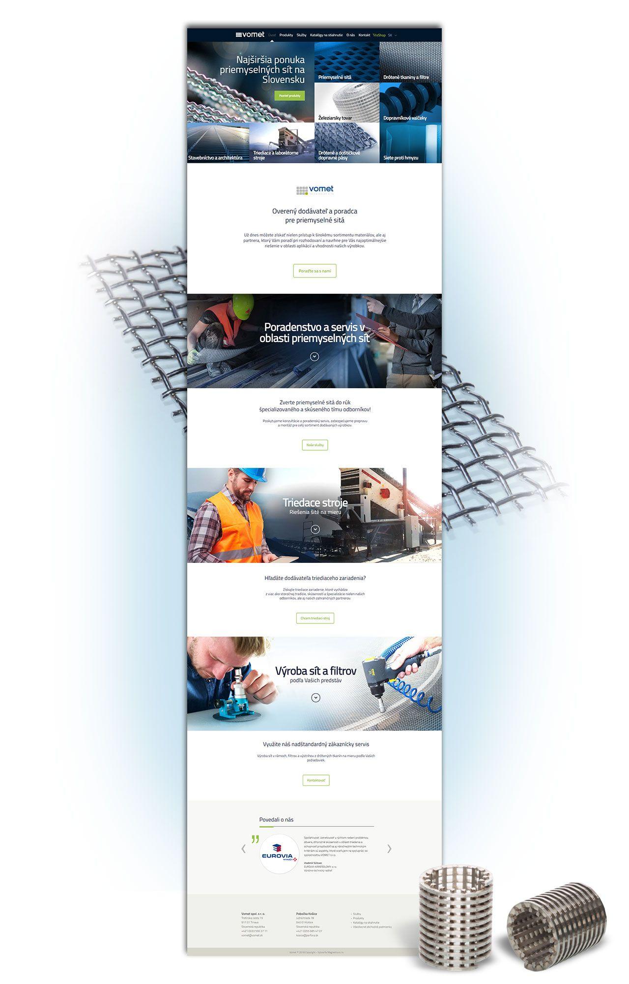 Referencia nová web stránka Vomet - magnetica.sk